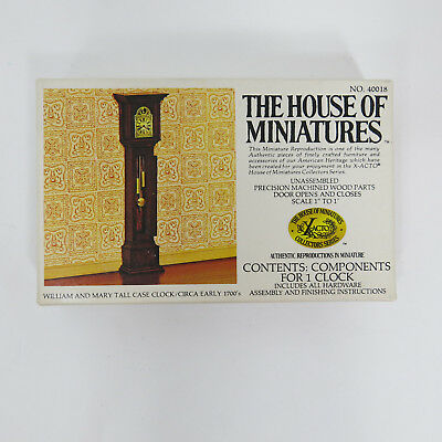 Vintage House of Miniatures William Mary Tall Case Grandfather Clock 40018