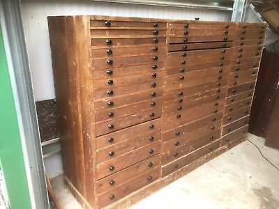 Antique Pine Flight of Drawers