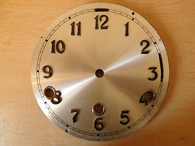 "Aluminium Clock Dial/Face 6""/152mm silver with Black Arabic Numerals"