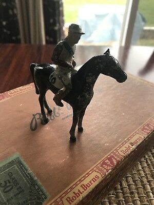 Vintage Cast Iron Horse With Jockey