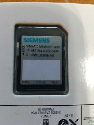 Siemens 4Mb Simatic Memory Card 6Es7 954-8Lc02-0Aa0 * Brand New *