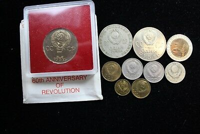 CCCP - Russia  9  assorted coins   lot J 254