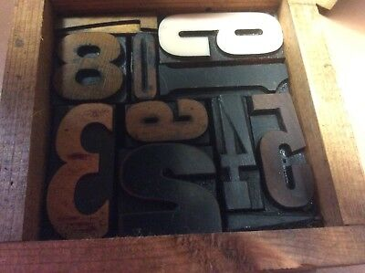 Letterpress Type Random Numerals 0 - 9 Collage Loose In Box