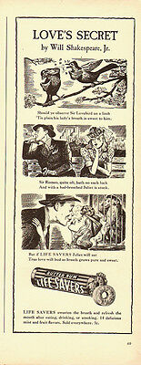 1941 Vintage ad for Life Savers`Butter Rum`Cartoon`Love Story (020814)