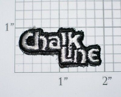 CHALK LINE Small Iron-On Vintage Embroidered Clothing Patch Logo Emblem Insignia