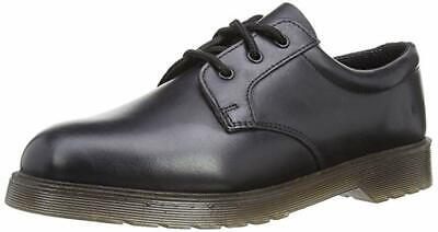MENS GRAFTERS Black leather lace-up Formal Work shoe M162A Size UK Adults 8