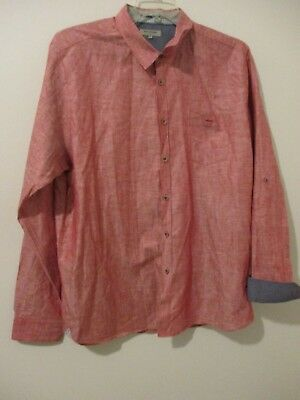bff764758f611 NWOT TED BAKER London Button Front Long Sleeve Shirt Mens 7   XXL ...