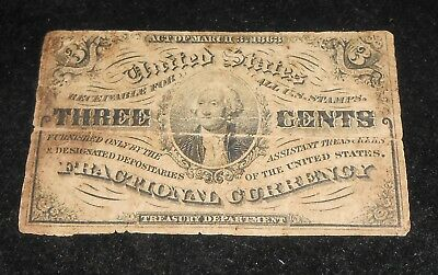 3 Cent Fractional currency Act of March 3 1863