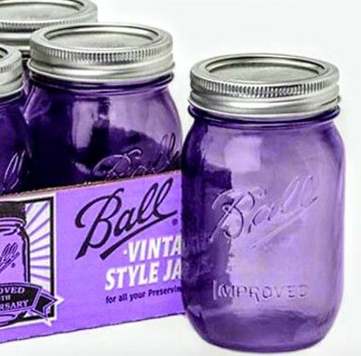 Purple ball mason jar