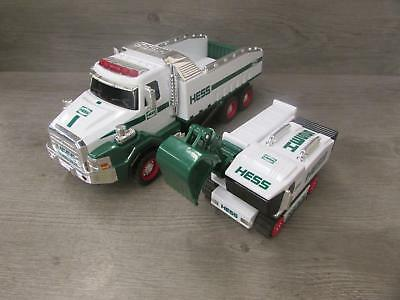 Hess 2017 Toy Truck Dump & Truck Loader Collectible Toy Trucks Tested Works