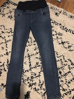 ASOS Maternity Over the Bump Blue Skinny Jeans Size 14