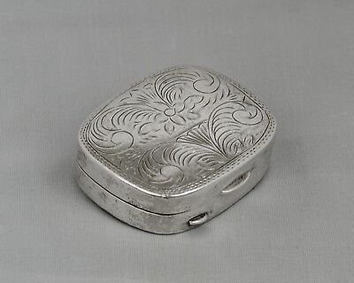 Vintage Boma Sterling Silver Pill/Snuff Box