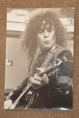 Original photo Marc Bolan T.Rex  B&W Approx 7.5 inches x 11.5inches