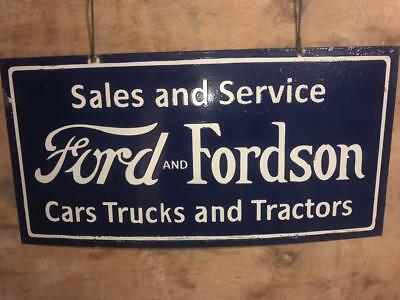 Large Ford And Fordson Porcelain Enamel Single Sided Sign