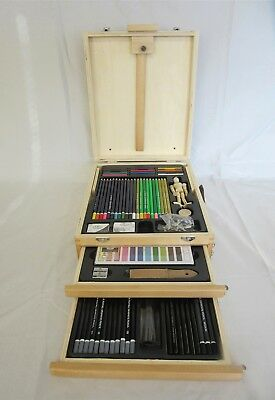 Royal & Langnickel 124 piece sketch & draw art set in compact box / easel