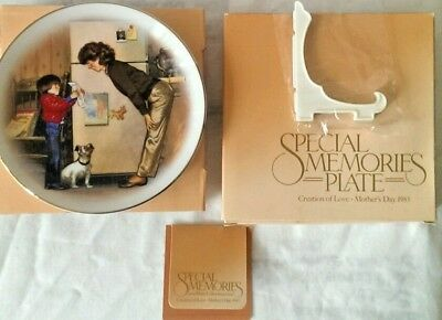 Mother's Day Gift Plate Creation of Love 1985 Tom Newsom New  22K Gold Trim