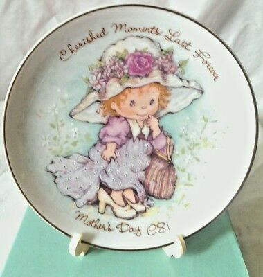 Mother's Day Gift Plate Cherished Moments Mother's Day 1981 New in Box Avon