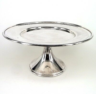 Silver Comport Or Tazza Circular Form On A Spreading Foot By