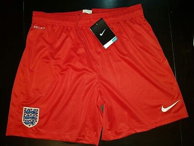 Men's Nike England red dri fit gym training Shorts Football Soccer size L