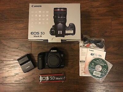 Canon EOS 5D Mark III Digital SLR Camera (Body Only) - Original Owner-EXCELLENT