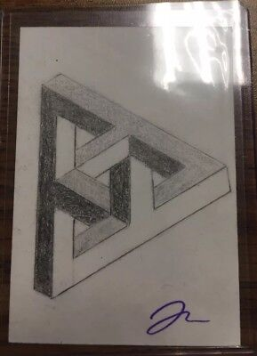 ACEO Drawing Sketch Art Triangle Optical Illusion