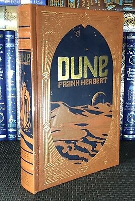 DUNE by FRANK HERBERT Leather Bound Sealed New Collectible Sci-Fi Gift Edition