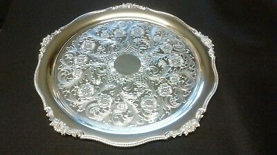 Beautiful Viners Heavy Alpha Plate Chased 36.5cm Tray