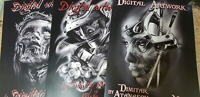 TATTOO BOOK SET - digital artwork designs    VOL-1,2,3