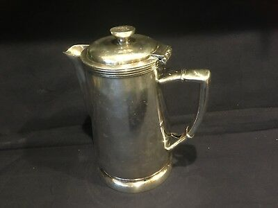 Tall Hilton Hotel 32 oz Coffee Pot  -- HOTEL SILVER