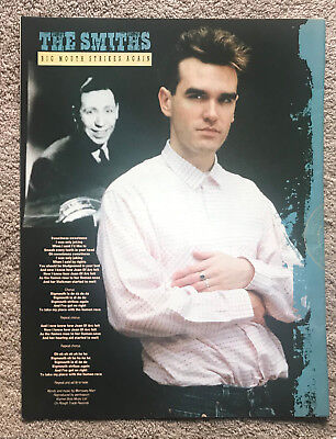 THE SMITHS - BIG MOUTH STRIKES AGAIN 1986 full page UK magazine poster MORRISSEY