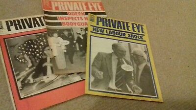 3 x Private Eye magazines 1982/83
