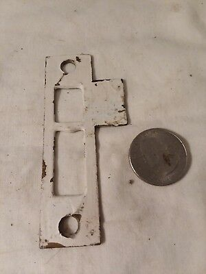 Antique Solid Brass Mortise Door Bolt Lock Latch Strike Plate