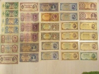 Hungary Banknote Pengo Lot - 1930-1946 - 31 Different Banknotes From 13 Types