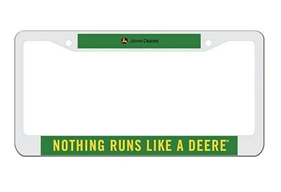 New John Deere License Plate Frame Green and Yellow LP44108