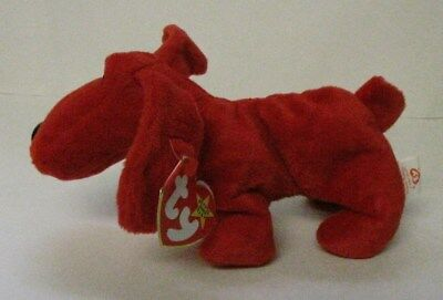 1996 Ty Beanie Babies Baby Rover The Red Dog w/Errors