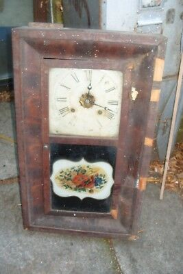 Wall Clock Spares Usa  Wall  Clock Tatty Case Complete  Movement