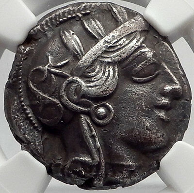 ATHENS Attica Greece 440BC Ancient Greek Silver Tetradrachm OWL ATHENA NGC AU