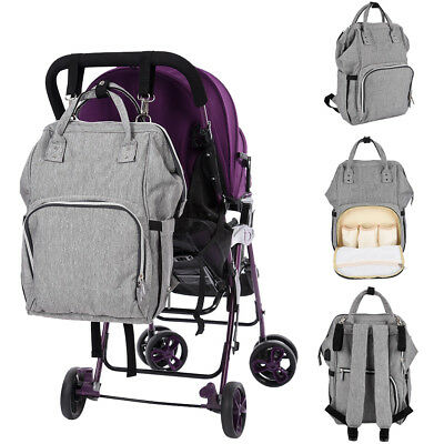 New Baby Diaper Nappy Backpack Waterproof Large Changing Mom Bag Multifunctional