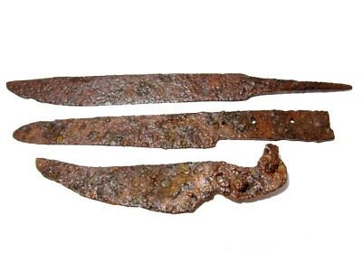 LOT OF 3pcs. ANCIENT ROMAN IRON KNIVES, WELL CLEANED AND PRESERVED+++