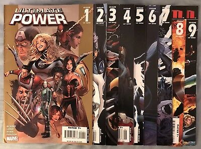 Ultimate Power #1 - 9 Marvel Comics by Bendis Complete Run