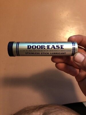 Vintage Door Ease Stainless Stick Lubricant American Grease Stick Company