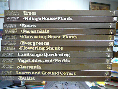 Lot of 12 Time-Life Encyclopedia of Gardening Books