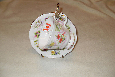 Royal Albert OUR EMBLEMS DEAR ( Canada )  Cup and Saucer bone china