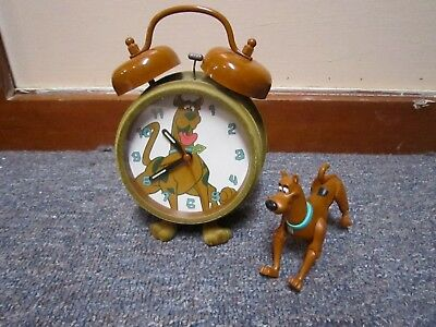 Lot Scooby Doo double bell alarm clock and poseable figure