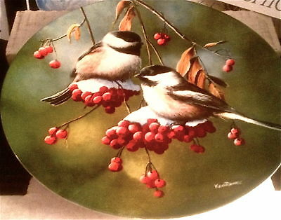 ' The Chickadee' Plate NEW in Box w Authenticity Papers, E.Knowles FREE SHIPPING
