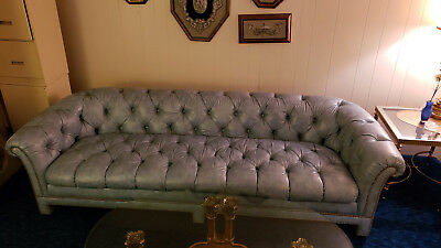 Vintage Retro Couch Love Seat Set Living Room Furniture