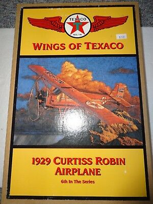 Ertl Wings Of Texaco 1929 Curtiss Robin Airplane 6th in Series Coin Bank **new**