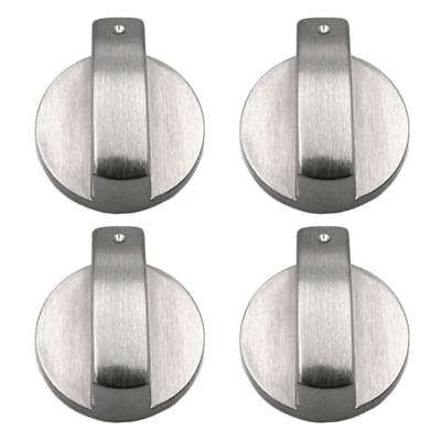 Stoves Cooker Knobs, 4pcs Oven Knob, Universal Silver Gas Stove Control 6mm K3V8