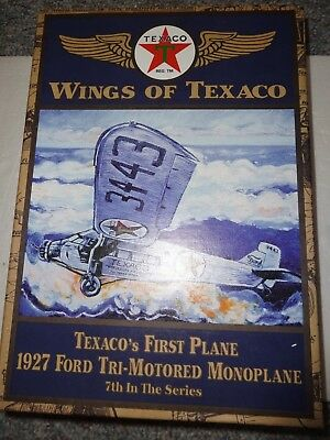 Ertl Wings Of Texaco 1927 Ford Tri-Motored Monoplane 7th in Series Coin Bank