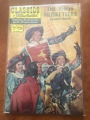 Classics Illustrated The Three Musketeers No. 1 By Alexandre Dumas
